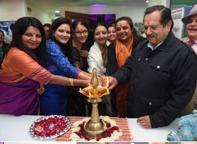 Left to right: Dr Priyamwada, Dr Deepali Bhardwaj, Dr Anjan Prakash, Dr Mallika Nadda, Dr Geeta Singh, Shri Indresh Kumar ji