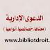 الدعوى الادارية  معناها وخصائصها وأنواعها pdf