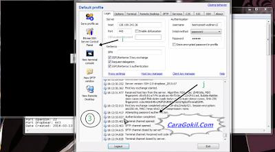 Internet Gratis Menggunakan Bitvise SSH Client