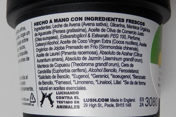 Lush R&B ingredientes