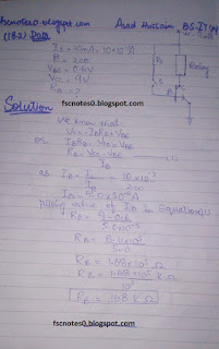 F.Sc ICS Notes: Physics XII: Chapter 18 Electronics Numerical Problems by Asad Hussain 1