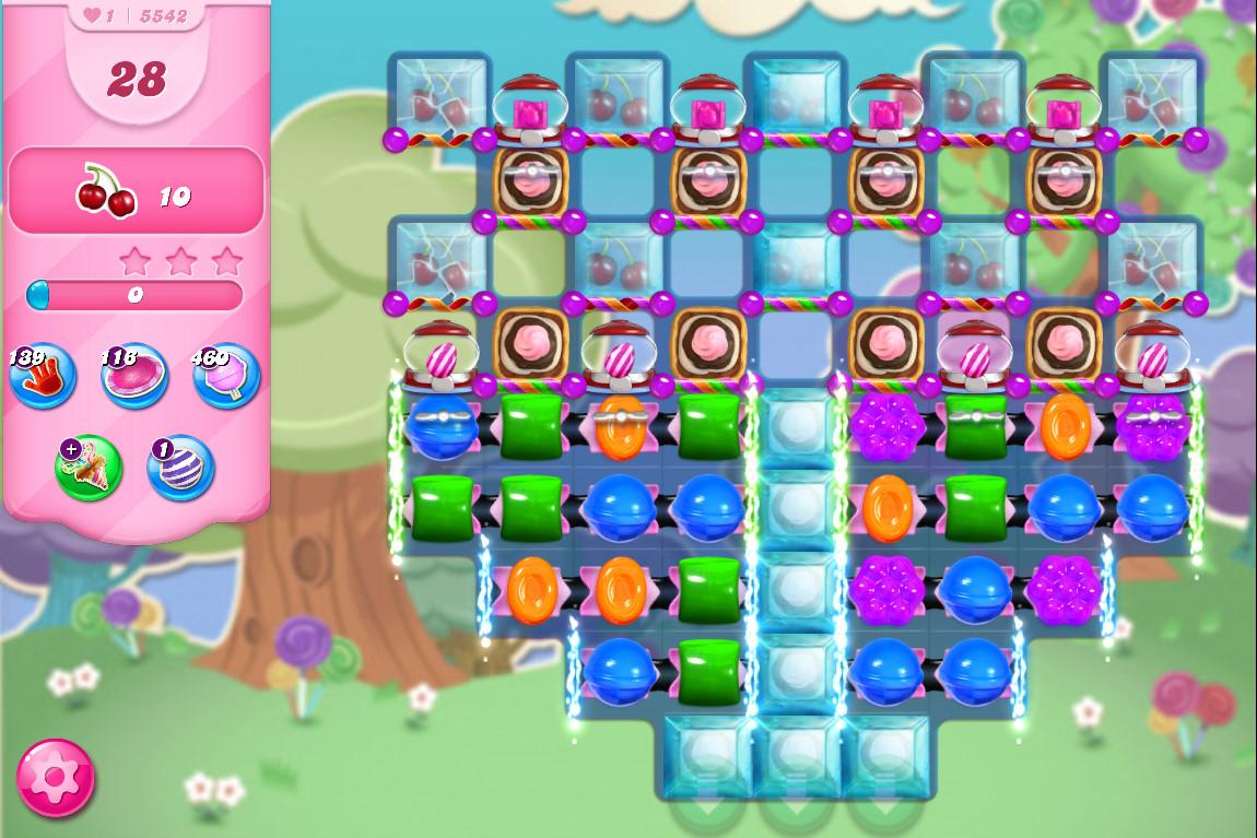 Candy Crush Saga level 5542