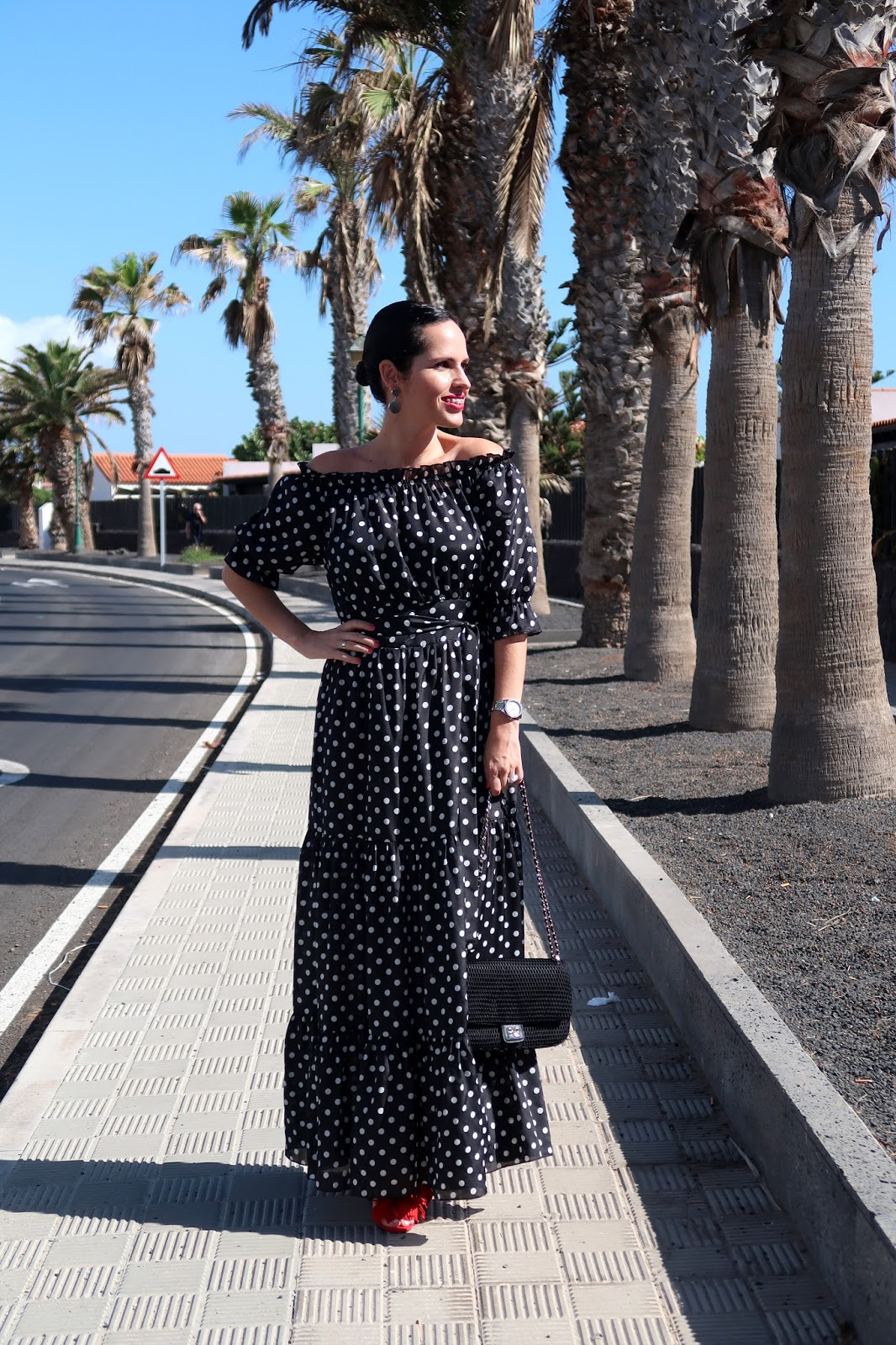 polka-dots-long-dress-daily-look