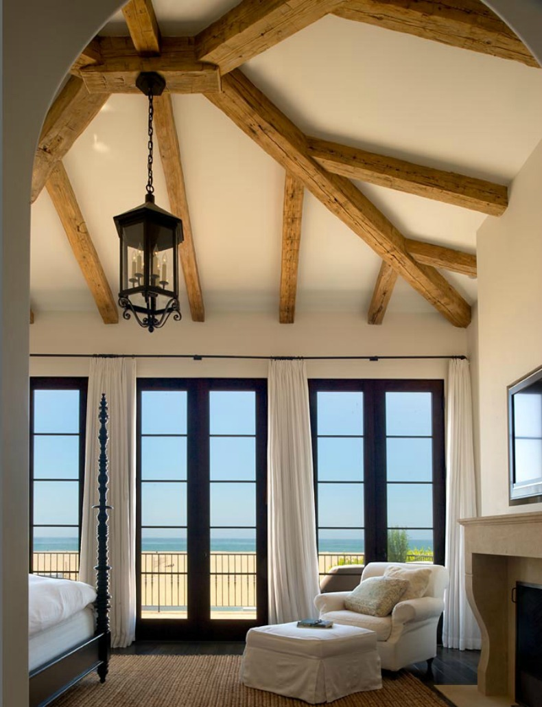 Coastal bedroom sitting area with ocean views