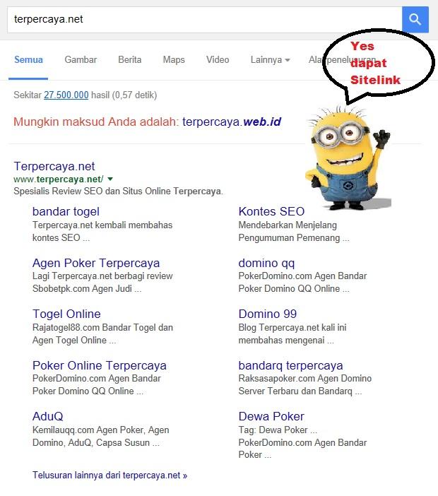 Sitelink dari Google