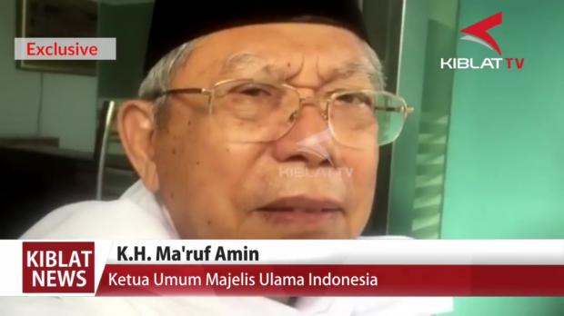 KH. Ma'ruf Amin: Silahkan Proses Hukum Sukmawati, Saya Tidak Melarang