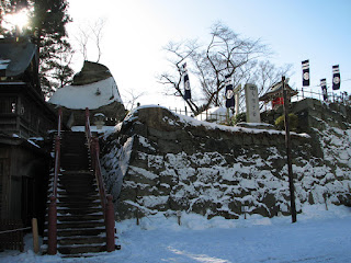 初詣 神社の烏帽子岩