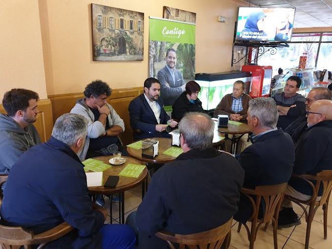 Contigo Elche se reúne con representantes de La Marina para fijar los primeros pasos de la próxima legislatura