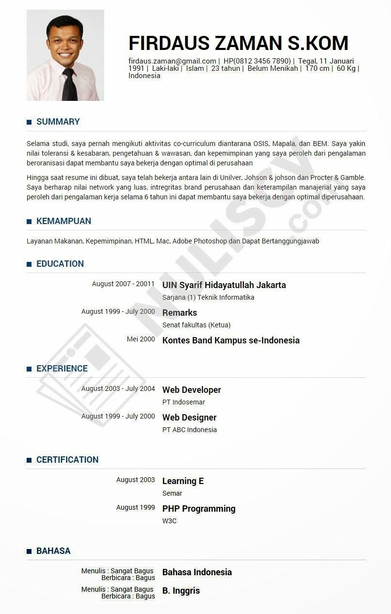 Download Contoh Cv Wood Scribd Indo