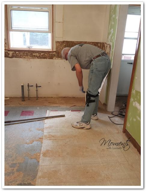 Removing the linoleum