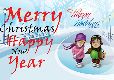 happy christmas new year holiday