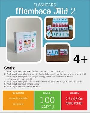 Flash Card Lancar Membaca Metode Cepat -  Jilid 2