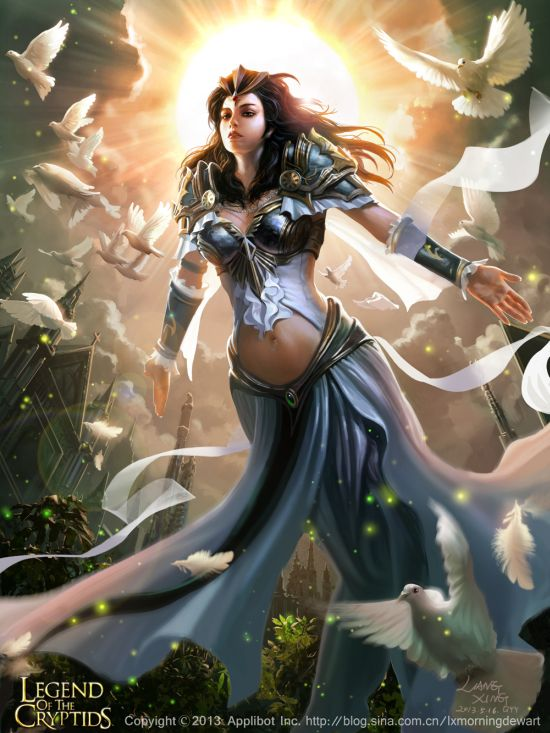 Liang Xing ilustrações fantasia games Legends of the Cryptids