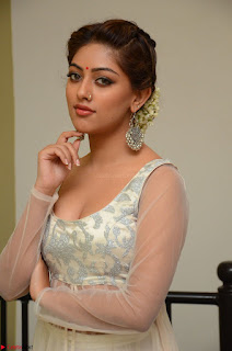 Anu Emmanuel in a Transparent White Choli Cream Ghagra Stunning Pics 095.JPG