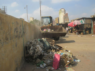 حملة نظافة بسوق طلخا المطور بالدقهلية