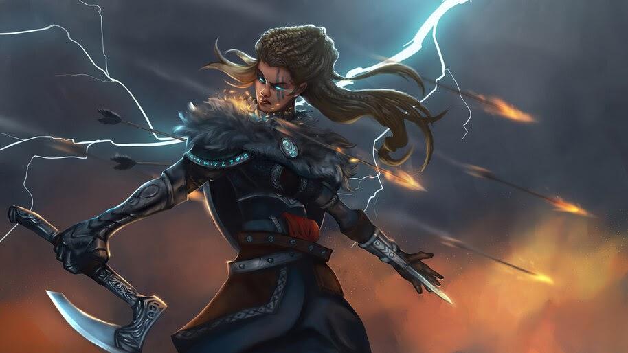 Assassins Creed Valhalla Eivor Female Art 4k Wallpaper 3 2091