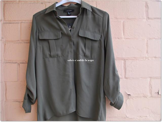 Compras en Primark Madrid Gran Vía - Camisa militar