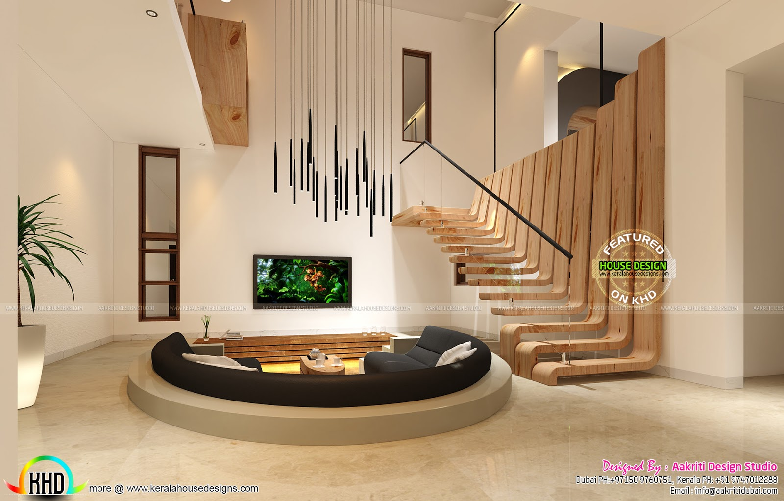 Sunken seating, bedroom and other home interios - Kerala ...