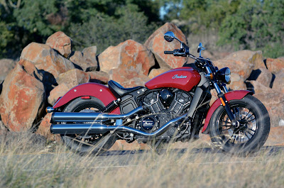 2016 Indian Scout Sixty Cruiser Motorcycle in road