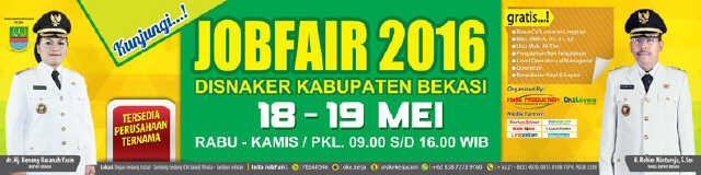 Jobfair dinas tenaga kerja di kabupaten Bekasi mei