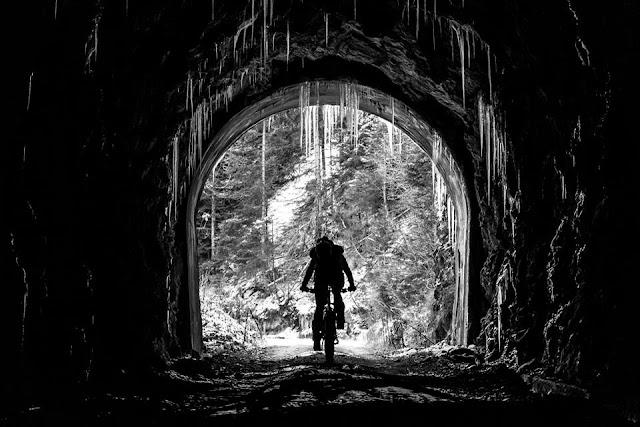 Eiszapfen Mountainbike Winter Hoher Lorenzenberg