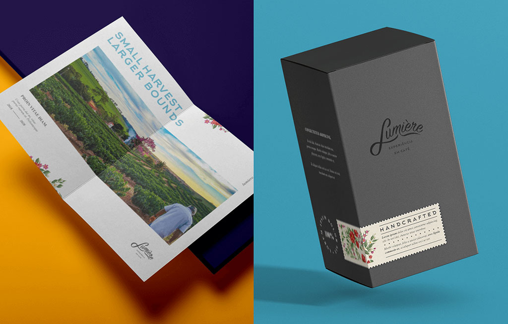 Inspirasi Desain Kemasan Packaging - Lumiere Coffee