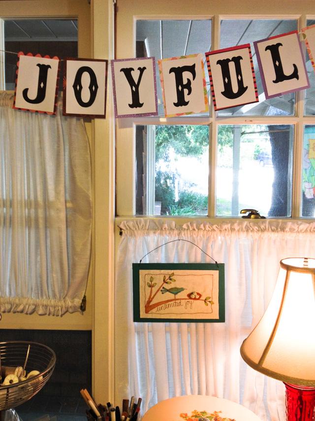 JoyFul pennant banner