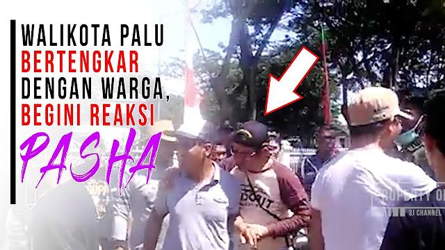 VIDEO: Nyaris Adu Jotos, Pasha Ungu Lerai Ricuh Warga vs Wali Kota Palu