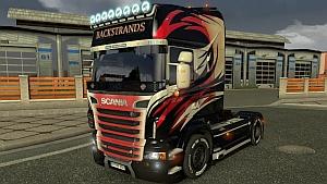 Scania R Backstrands skin mod by Ghass72