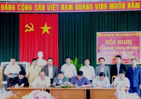 Doanh nghiệp vận tải Kon Tum cam kết không chở quá tải