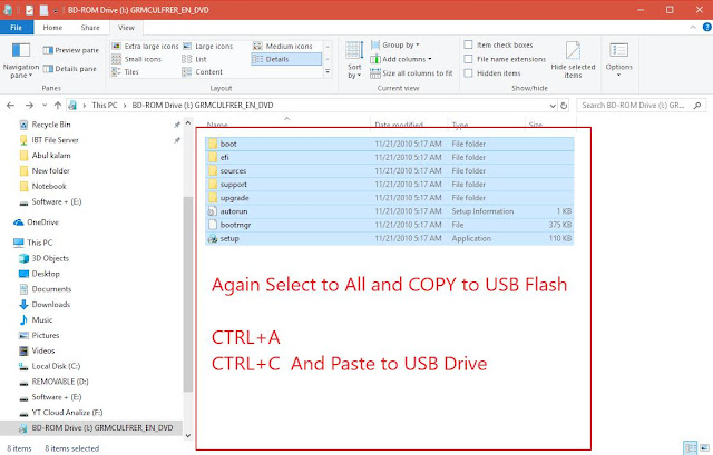 how to create bootable usb windows 7 without iso