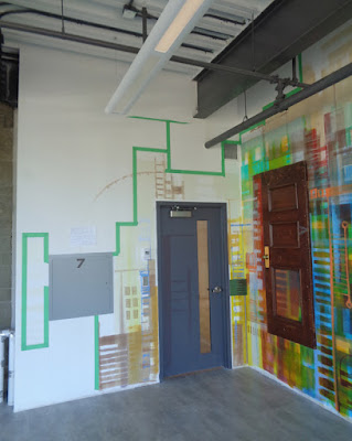 verna vogel wall mural/installation at cSPACE King Edward, Calgary AB