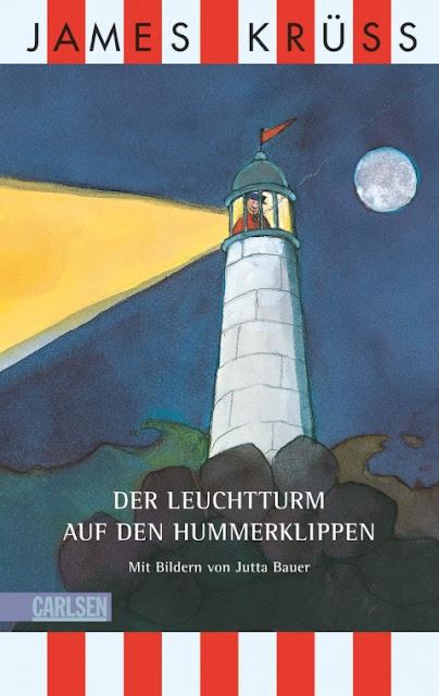 """Das Bücherboot auf Küstenkidsunterwegs hat diesmal ganz viele Kinderbücher, Jugendbücher und sogar ein paar Bücher für Erwachsene an Bord, die sich allesamt um das Thema """"Ferien und Urlaub am Meer"""" drehen! Großartige Erzählungen könnt Ihr in dem Buch von James Krüss und Jutta Bauer """"Der Leuchtturm auf den Hummerklippen"""" lesen."""