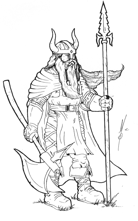 viking coloring pages | Warriors in art: Viking by Mauro Grazianni de Carvalho
