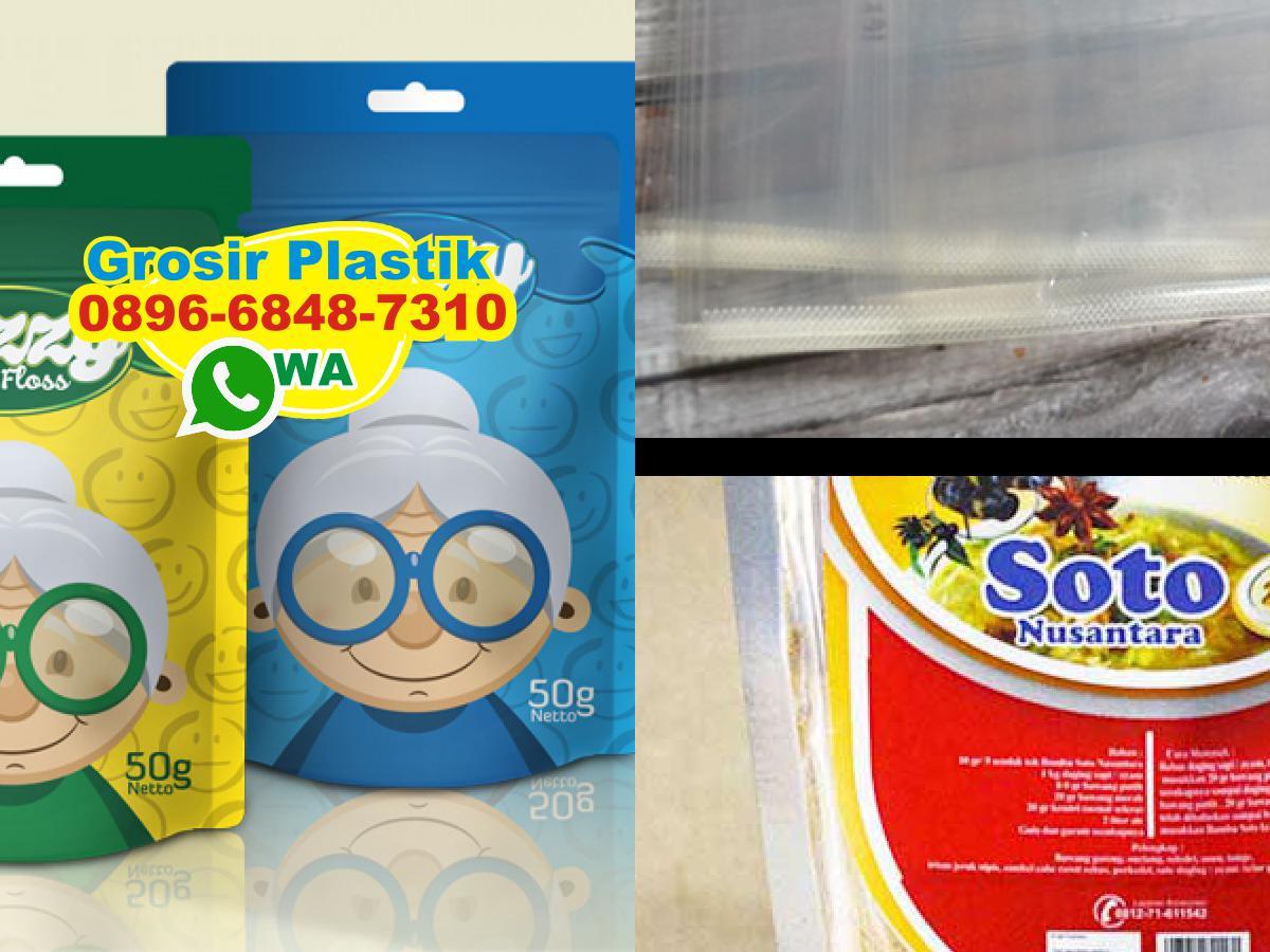 O896 6848 731o Wa Standing Pouch Plastik Aluminium Foil Kombinasi Bening 250 Gram