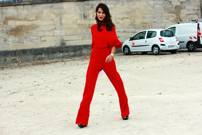 Red Jumpsuit Fashion #streetstyle