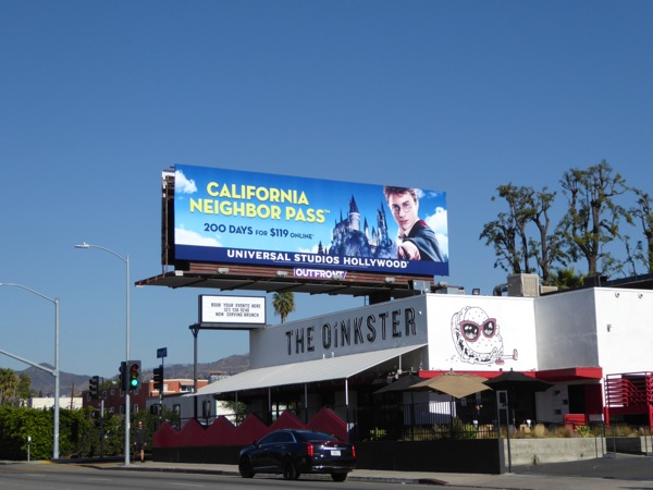 Harry Potter Universal California pass billboard