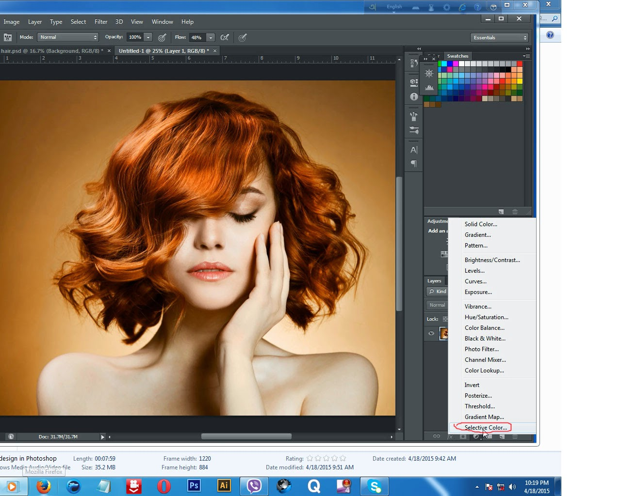 how to change somethings color in photoshop