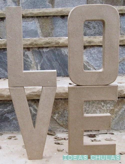 Letras de cartón (kraft)