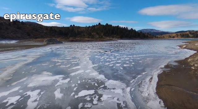 ΜΕΤΣΟΒΟ: Στην παγωμένη λίμνη πηγών Αώου (ΒΙΝΤΕΟ)