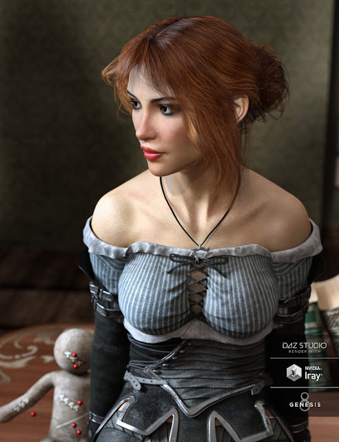 Dolly Changeable Hair for Genesis 8 Female