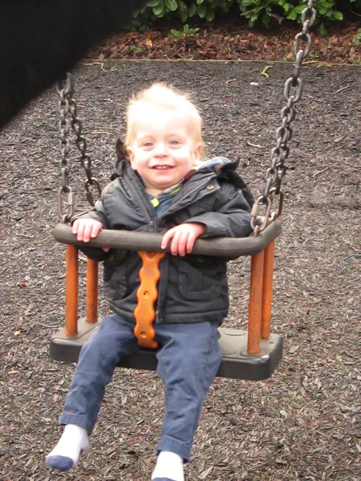 Alexander enjoying the park on 1st January 2016