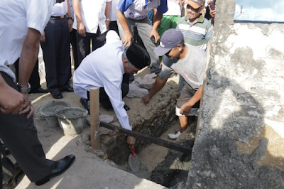 Bupati Pringsewu Letakkan Batu Pertama Prasarana Kotaku