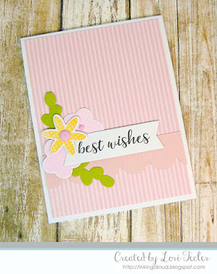 Floral Best Wishes card-designed by Lori Tecler/Inking Aloud-stamps and dies from Reverse Confetti