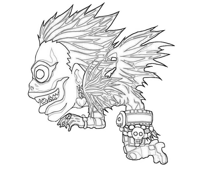 deathnote coloring pages - photo#13