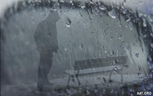 cô đơn trong mưa buồn