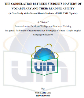 Skripsi Bahasa Inggris Vocabulary Kumpulan Judul Contoh Skripsi Bahasa Inggris << Contoh Vocabulary And Reading Emc Uin Alauddin Belajar Bahasa Inggris
