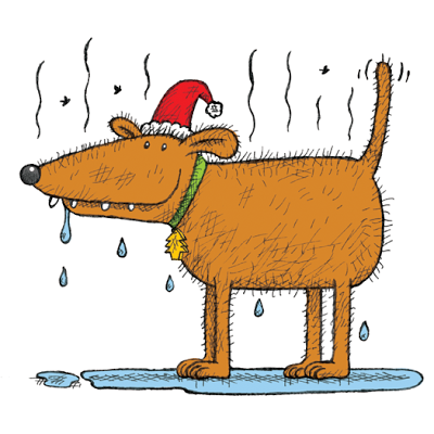A picture of Santa's dog from Stinky Santa's Christmas ebook