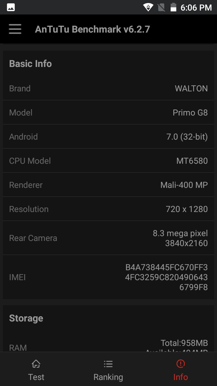Primo G8 CPU and GPU ৮ মেগাপিক্সেল ফ্রন্ট ক্যামেরার Walton Primo G8 এর হ্যান্ডস-অন রিভিউ