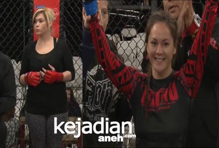 Petarung Bebas MMA VS Wanita Gendut